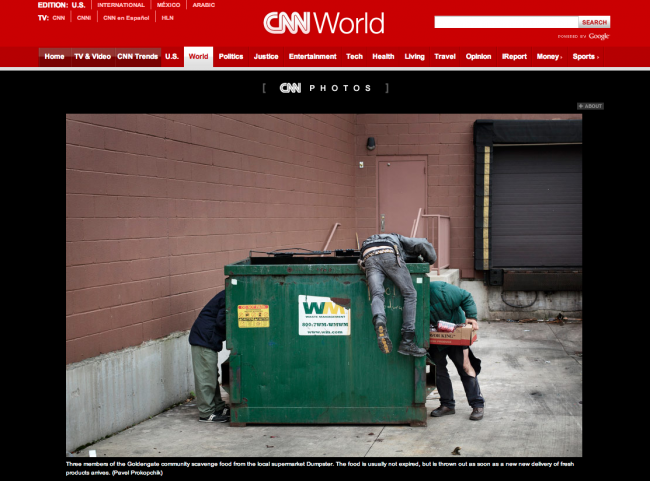 Goldengate story is published on the CNN website
